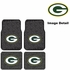 Front & Rear Seat Rubber Floor Mats - Car Truck SUV - Green Bay Packers