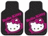 Front & Rear Seat Rubber Floor Mats - Car Truck SUV - Hello Kitty - Collage