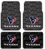Front & Rear Seat Rubber Floor Mats - Car Truck SUV - Houston Texans