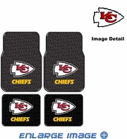 Front & Rear Seat Rubber Floor Mats - Car Truck SUV - Kansas City Chiefs