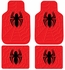 Front & Rear Seat Rubber Floor Mats - Car Truck SUV - Marvel Comics - Spider-Man