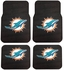 Front & Rear Seat Rubber Floor Mats - Car Truck SUV - Miami Dolphins