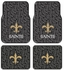 Front & Rear Seat Rubber Floor Mats - Car Truck SUV - New Orleans Saints