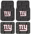 Front & Rear Seat Rubber Floor Mats - Car Truck SUV - New York Giants