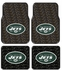 Front & Rear Seat Rubber Floor Mats - Car Truck SUV - New York Jets