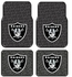 Front & Rear Seat Rubber Floor Mats - Car Truck SUV - Oakland Raiders