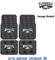 Front & Rear Seat Rubber Floor Mats - Car Truck SUV - Philadelphia Eagles