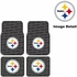 Front & Rear Seat Rubber Floor Mats - Car Truck SUV - Pittsburgh Steelers