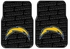 Front & Rear Seat Rubber Floor Mats - Car Truck SUV - San Diego Chargers