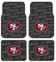 Front & Rear Seat Rubber Floor Mats - Car Truck SUV - San Francisco 49ers
