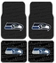 Front & Rear Seat Rubber Floor Mats - Car Truck SUV - Seattle Seahawks