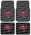 Front & Rear Seat Rubber Floor Mats - Car Truck SUV - Tampa Bay Buccaneers