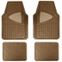 Front & Rear Seat Trim-to-Fit Floor Mats - Car Truck SUV - Tan Beige