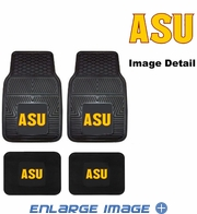 Front & Rear Seat Vinyl Floor Mats - Car Truck SUV - Arizona State University