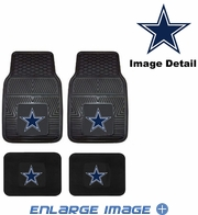 Front & Rear Seat Vinyl Floor Mats - Car Truck SUV - Dallas Cowboys
