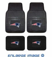 Front & Rear Seat Vinyl Floor Mats - Car Truck SUV - New England Patriots