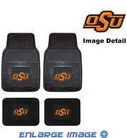 Front & Rear Seat Vinyl Floor Mats - Car Truck SUV - OSU Oklahoma State University Cowboys Cowgirls