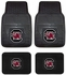 Front & Rear Seat Vinyl Floor Mats - Car Truck SUV - University of South Carolina