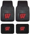Front & Rear Seat Vinyl Floor Mats - Car Truck SUV - University of Wisconsin
