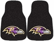 Front Seat Carpet Floor Mats - Car Truck SUV - Baltimore Ravens