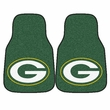 Front Seat Carpet Floor Mats - Car Truck SUV - Green Bay Packers