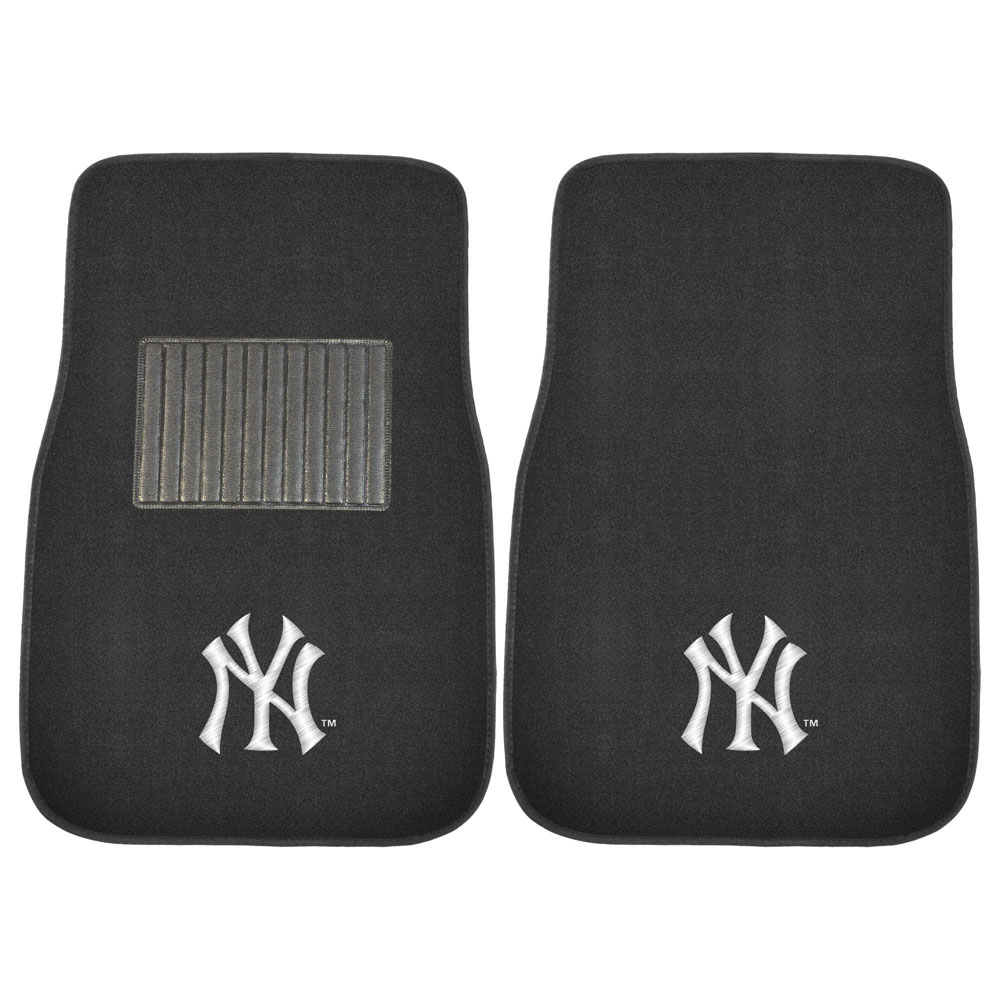 Floor mats embroidered - Front Seat Embroidered Carpet Floor Mats Car Truck Suv Mlb New York Yankees