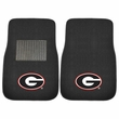 Front Seat Embroidered Carpet Floor Mats - Car Truck SUV - NCAA - University of Georgia - Bulldogs
