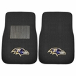 Front Seat Embroidered Carpet Floor Mats - Car Truck SUV - NFL - Baltimore Ravens