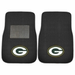 Front Seat Embroidered Carpet Floor Mats - Car Truck SUV - NFL - Green Bay Packers