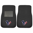 Front Seat Embroidered Carpet Floor Mats - Car Truck SUV - NFL - Houston Texans