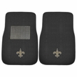 Front Seat Embroidered Carpet Floor Mats - Car Truck SUV - NFL - New Orleans Saints