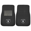 Front Seat Embroidered Carpet Floor Mats - Car Truck SUV - NFL - Oakland Raiders