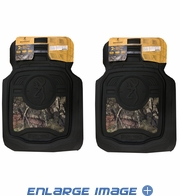 Front Seat Heavy Duty Trim-to-Fit Floor Mats - Car Truck SUV - Browning Buckmark Camo