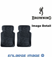 Front Seat Heavy Duty Trim-to-Fit Floor Mats - Car Truck SUV - Camouflage - Browning Buckmark Logo