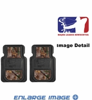Front Seat Heavy Duty Trim-to-Fit Floor Mats - Car Truck SUV - Camouflage - Major League Bowhunter