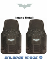 Front Seat PVC Vinyl Floor Mats - Car Truck SUV - Batman - The Dark Knight - Logo