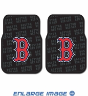 Front Seat Rubber Floor Mats - Car Truck SUV - Boston Red Sox