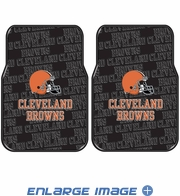 Front Seat Rubber Floor Mats - Car Truck SUV - Cleveland Browns
