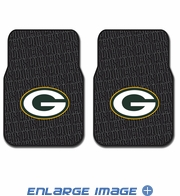 Front Seat Rubber Floor Mats - Car Truck SUV - Green Bay Packers