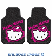 Front Seat Rubber Floor Mats - Car Truck SUV - Hello Kitty - Collage
