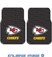 Front Seat Rubber Floor Mats - Car Truck SUV - Kansas City Chiefs