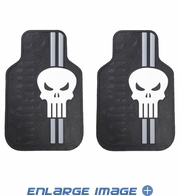 Front Seat Rubber Floor Mats - Car Truck SUV - Marvel Comics - The Punisher