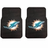 Front Seat Rubber Floor Mats - Car Truck SUV - Miami Dolphins