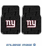 Front Seat Rubber Floor Mats - Car Truck SUV - New York Giants