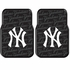 Front Seat Rubber Floor Mats - Car Truck SUV - New York Yankees