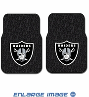 Front Seat Rubber Floor Mats - Car Truck SUV - Oakland Raiders