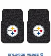 Front Seat Rubber Floor Mats - Car Truck SUV - Pittsburgh Steelers