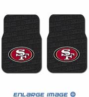 Front Seat Rubber Floor Mats - Car Truck SUV - San Francisco 49ers