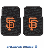 Front Seat Rubber Floor Mats - Car Truck SUV - San Francisco Giants