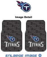 Front Seat Rubber Floor Mats - Car Truck SUV - Tennessee Titans